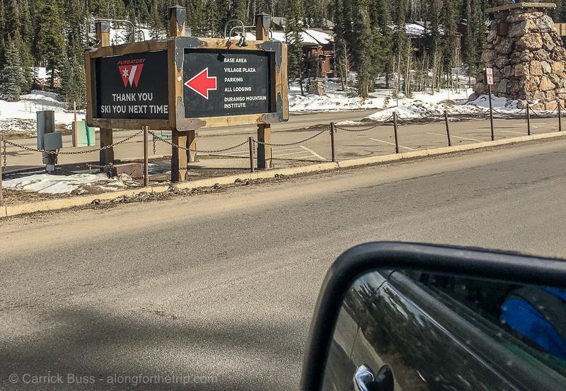 Purgatory Ski Resort entrance