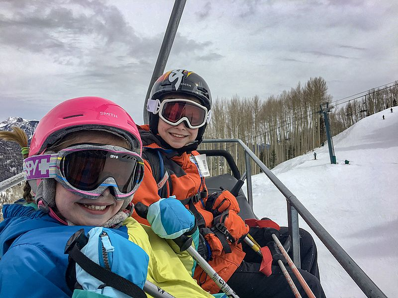 Family ski trip to Purgatory Resort Durango Colorado