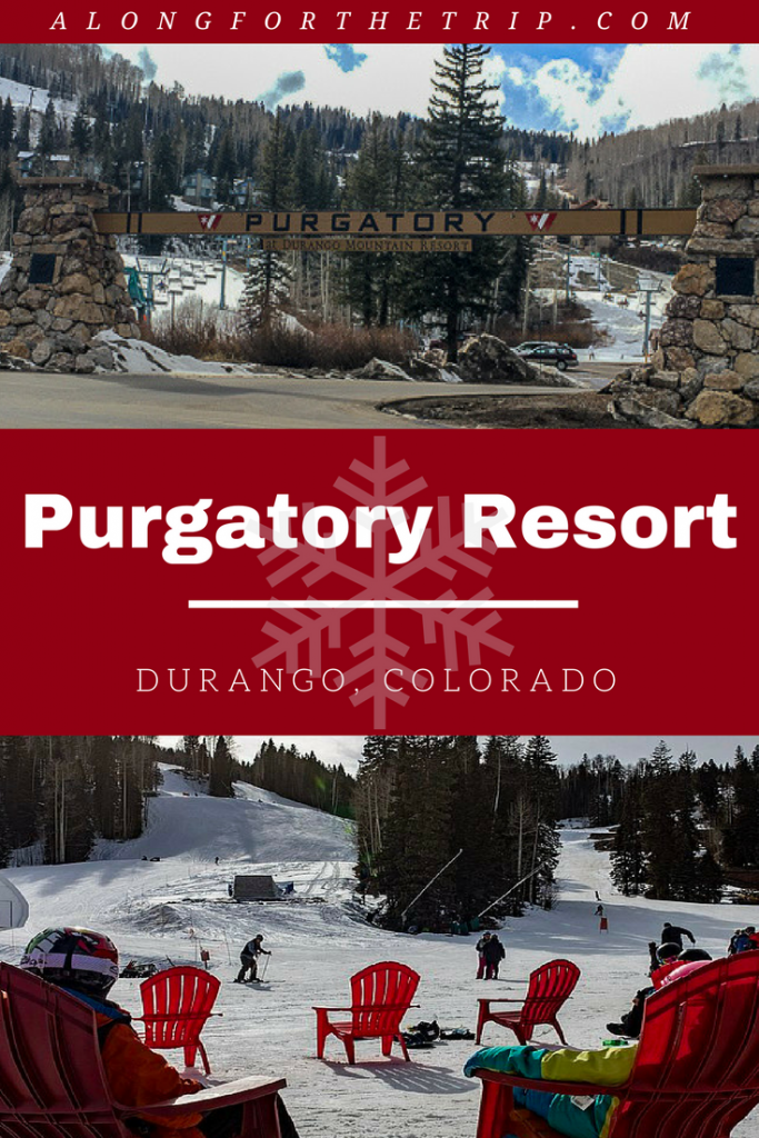 Purgatory Ski Resort is a small #Colorado resort that's big on family fun. Skip the huge expensive resorts and head to Durango to ski Purgatory for your next ski vacation. You get all the snowy fun for half the price! | #familyskitrip #familytravel #ski