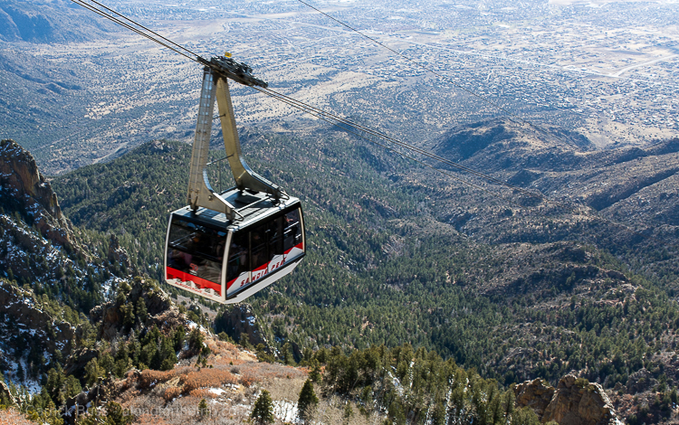 Things to do in Albuquerque, New Mexico -Sandia Peak Aerial Tramway