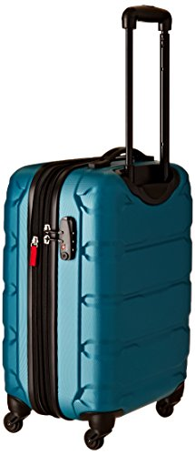 Samsonite Omni small carry on luggage in bright colors.