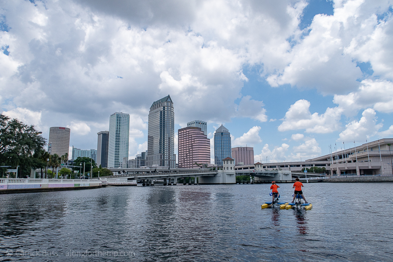 Going for a ride on the river with Tampa Bay Water Bikes with the kids.