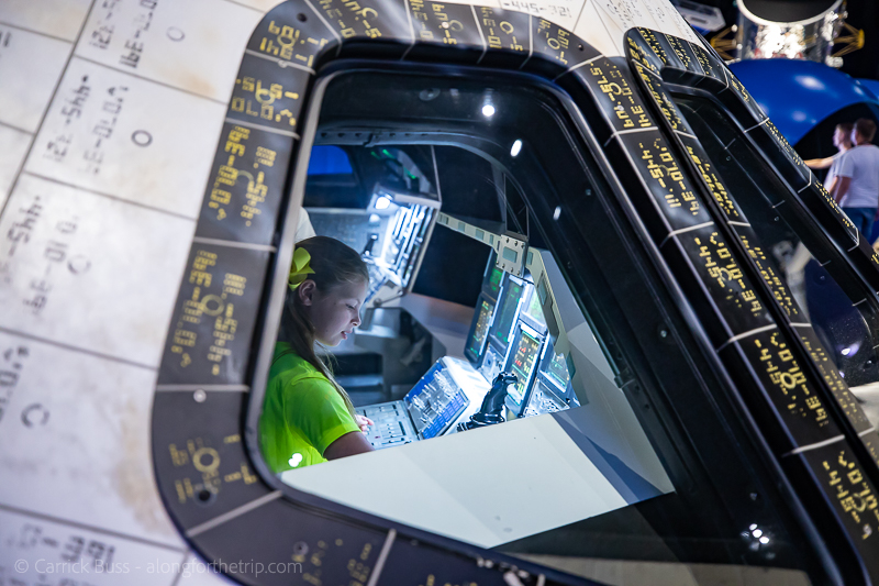 Flying the space shuttle Atlantis at Kennedy Space Center visitor's complex