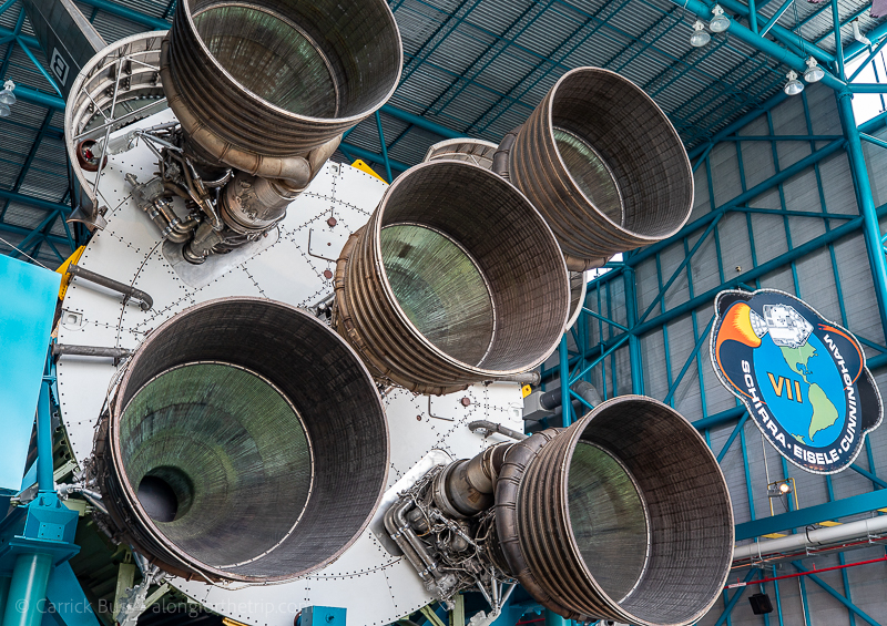 Saturn V rocket engines at Kennedy Space Center