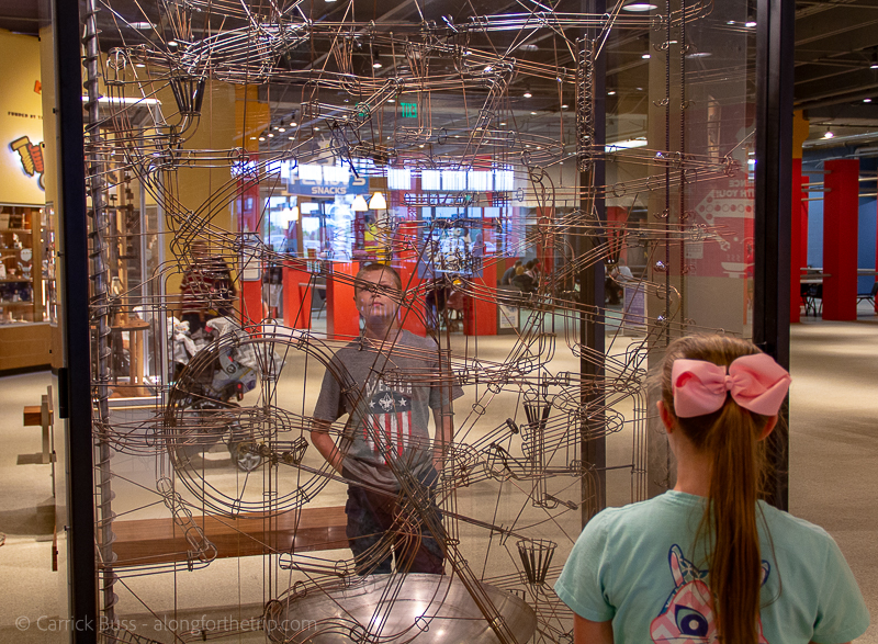 watching the gravitram at the Science Museum OKC - what to do in Oklahoma City