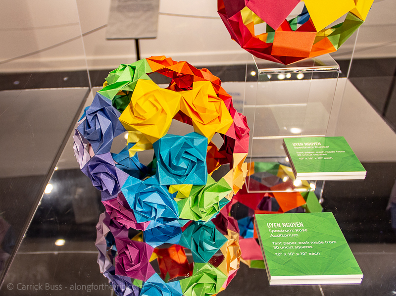 Origami exhibit at the Science Museum OKC