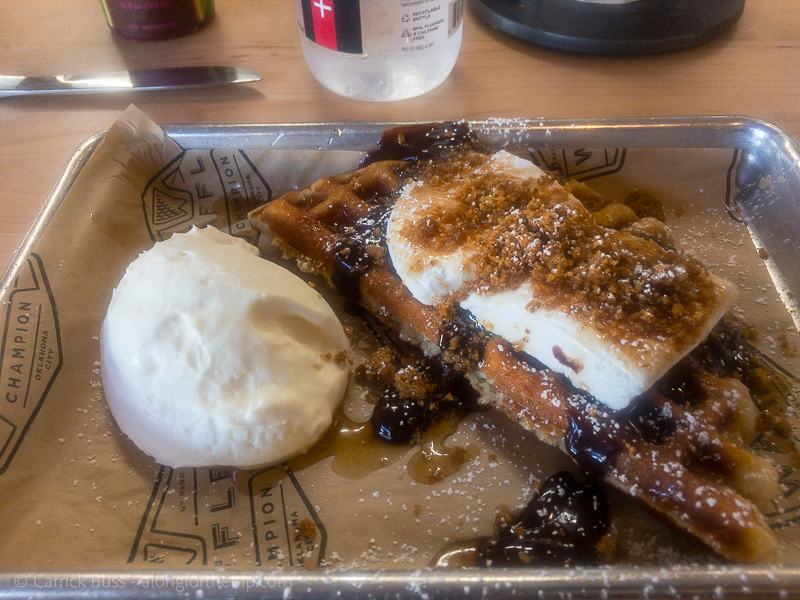 Waffle Champion S'Mores Waffle - best brunch in OKC