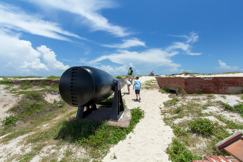 Exploring Dry Tortugas with kids - Fort Jefferson