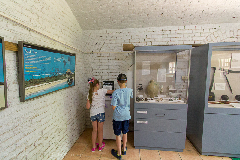 Dry Tortugas with kids - getting passports stamped