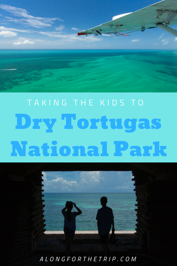 Dry Tortugas National Park is tiny park that's big on character and a total blast to visit with kids. Take the seaplane from Key West and gaze out at the phenomenal views there and back. We loved exploring Fort Jefferson and snorkeling in the warm waters around the park. If you're looking for an excellent excursion from Key West, book a trip to #DryTortugas National Park. You'll love it! | #FindYourPark #NationalParks #EveryKidInAPark