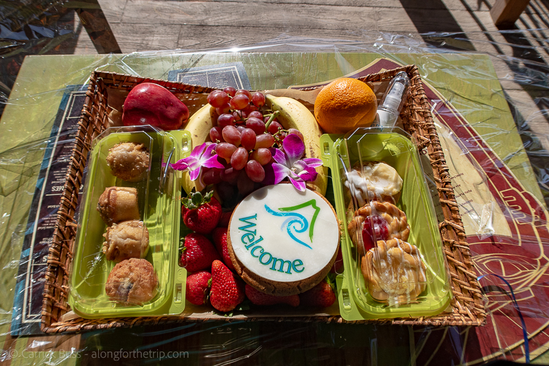 Volcano Bay Cabana - welcome tray