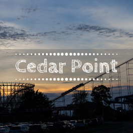 Family travel Cedar Point with kids