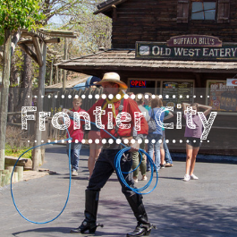 Family travel Frontier City with kids