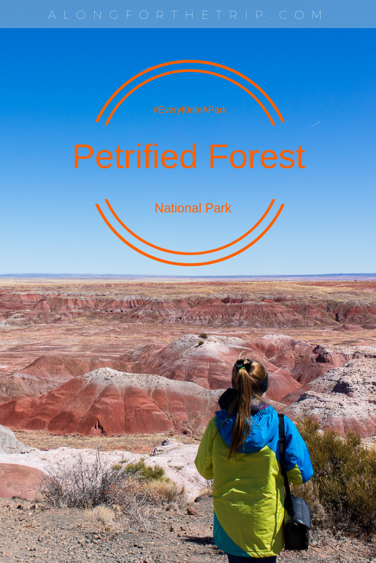 If you've not yet visited Arizona's Petrified Forest National Park and Painted Desert, you're missing out! It's a a park that's easy to explore in one day and features incredible views, ancient Pueblo sites, fossils, and family-friendly hiking trails. We loved exploring this park and think your family will also. | #familytravel #nationalpark #PetrifiedForestNP #Arizona #Everykidinapark
