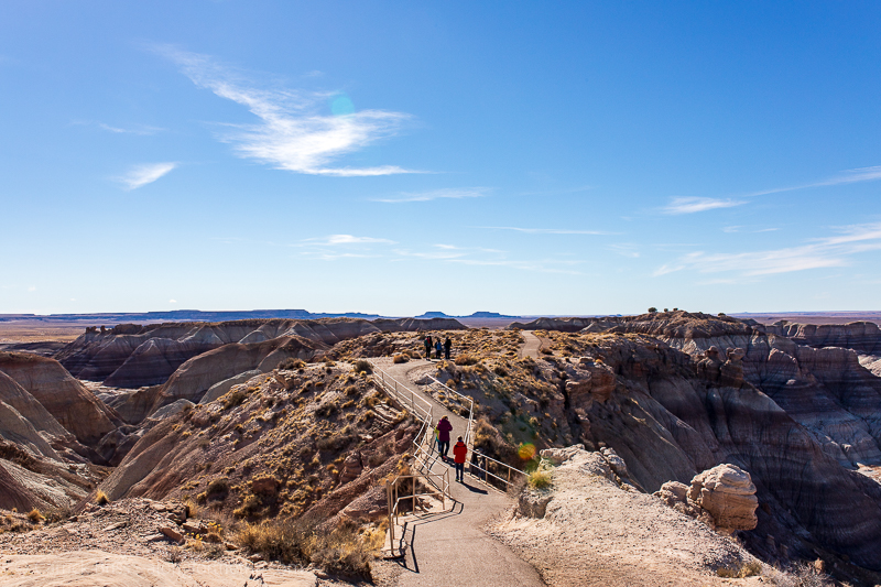 Hiking around Blue Mesa in Petrified Forest National Park