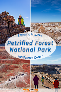 Exploring Petrified Forest National Park with kids.