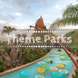 Family travel theme parks with kids
