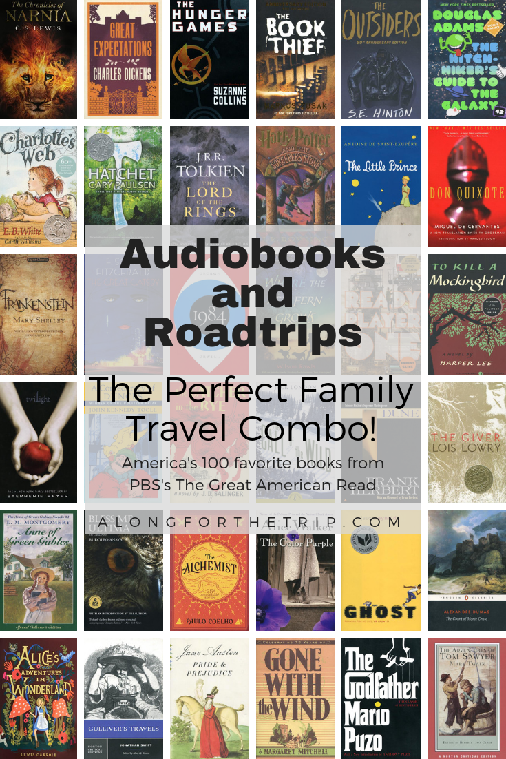 Audiobooks are perfect for family road trips. They help pass the time, give the kids a break from their electronics, and give everyone something fun to talk about. PBS recently came out with their Great American Read to try and narrow down America's 100 favorite books to just one. It's the perfect chance for your family to find that perfect #audiobook (or 2 or 3!) for your next #roadtrip. | #GreatAmericanRead #books #literature