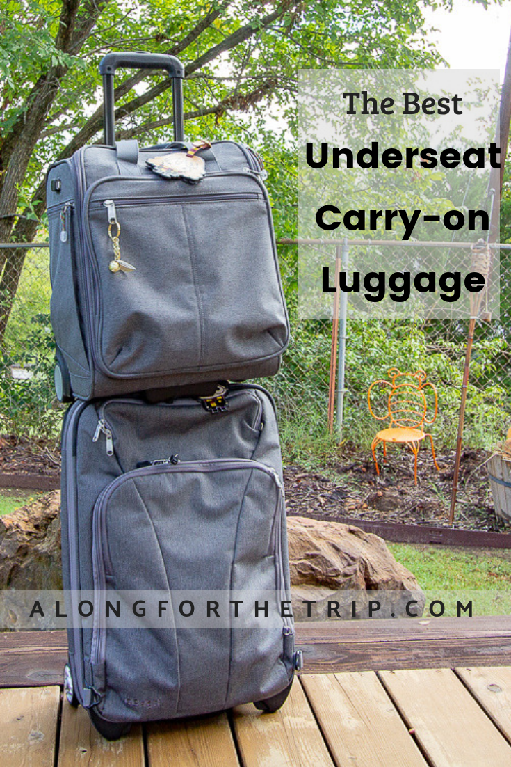 With airlines constantly raising baggage fees, it's important to save all the money and space you can, and an underseat carry-on is a great way to do that. We compare the best underseat luggage on the market to make it easy to choose one that's right for your next trip. We love our bag, and we recommend an underseat carry-on to help you eliminate travel headaches and fees as well. | #carryon #luggage #underseater #underseatluggage