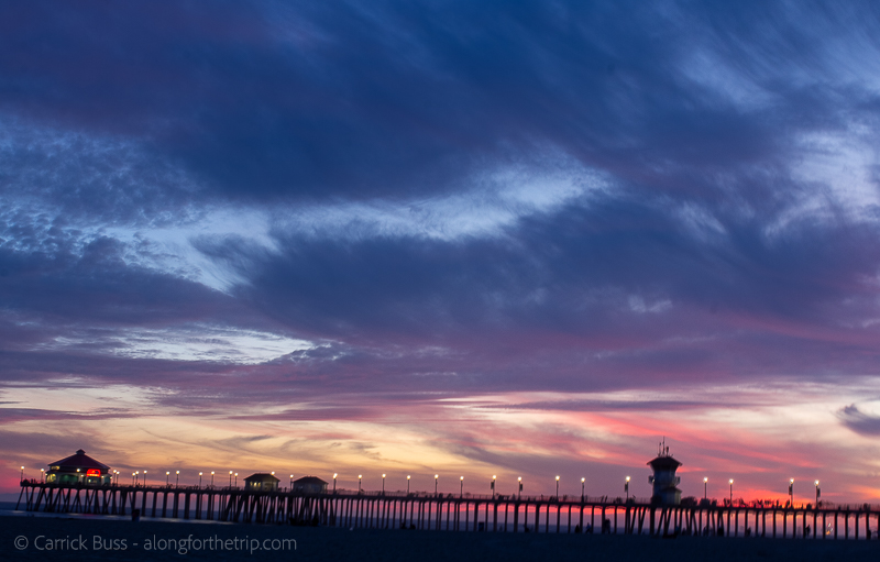 Things to do in LA with family - Huntington Beach Pier at Sunset
