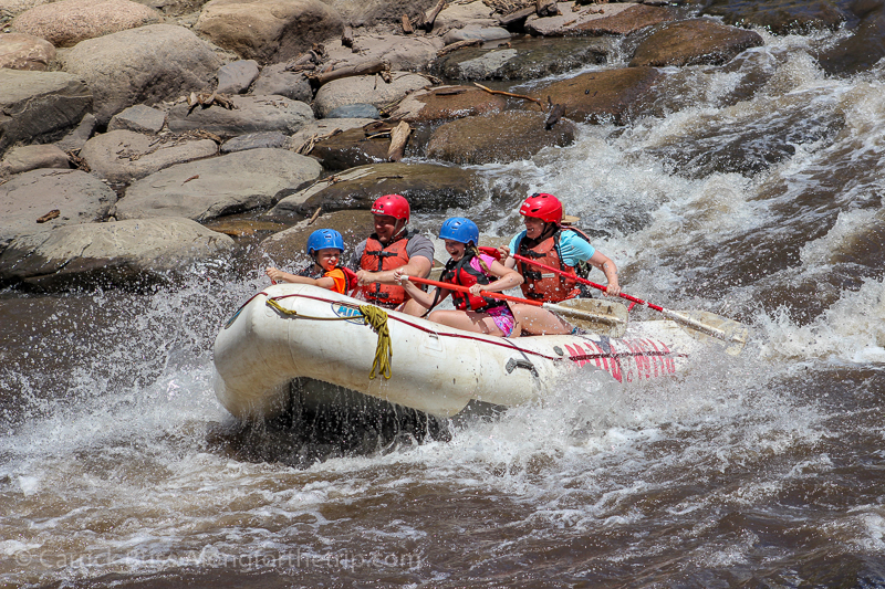 White water rafting on the Animas River Durango