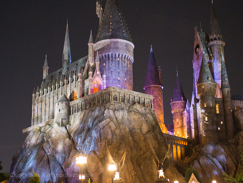 Universal Studios Orlando guide - Hogwart's Castle at Night