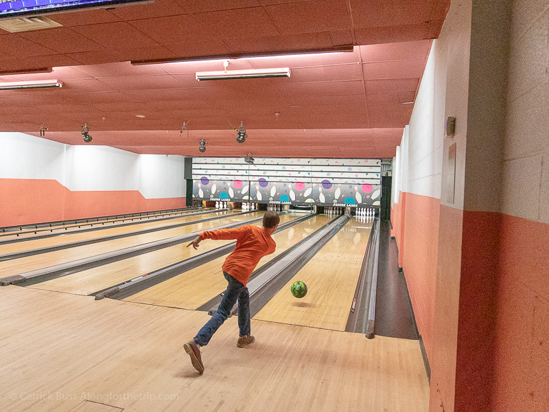 Indoor bowling alley at the Best Western Premier Grand Canyon Squire Inn