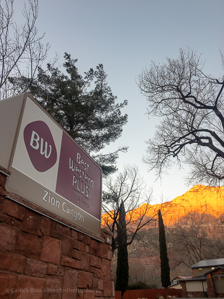 Sunrise at Zion from the Best Western Zion Canyon Inn and Suites