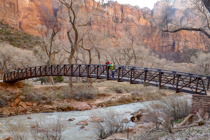 Family trip to Zion National Park with kids