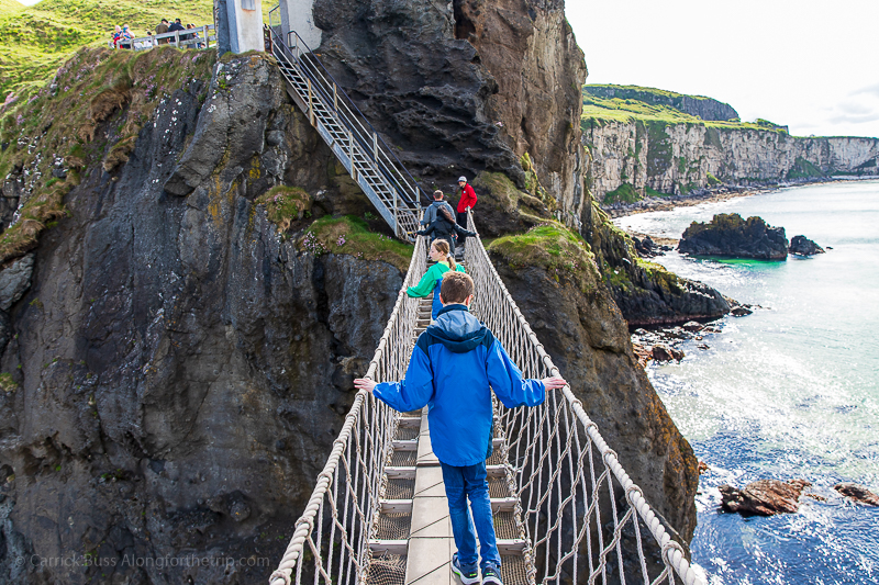 Northern Ireland coast from the Carrick-a-Rede rope bridge