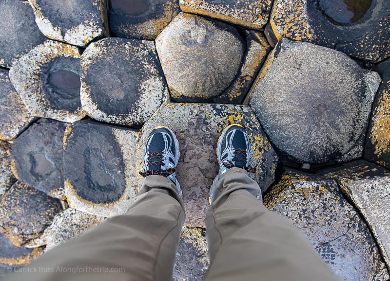 Basalt stones - visiting Giant's Causeway