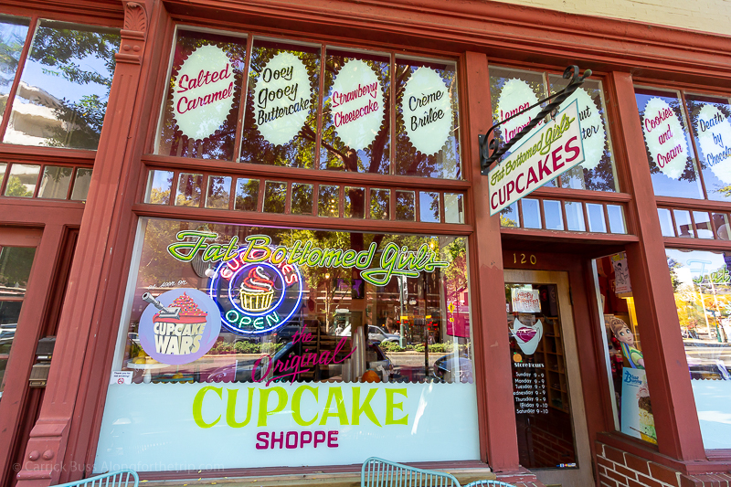 Visit Hot Springs and eat cupcakes at Fat Bottomed Girls.