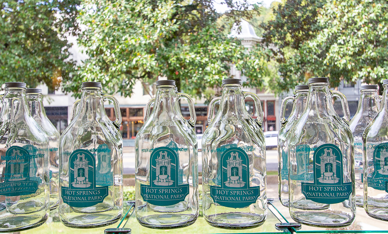 Take home the water from the natural hot springs in Arkansas.