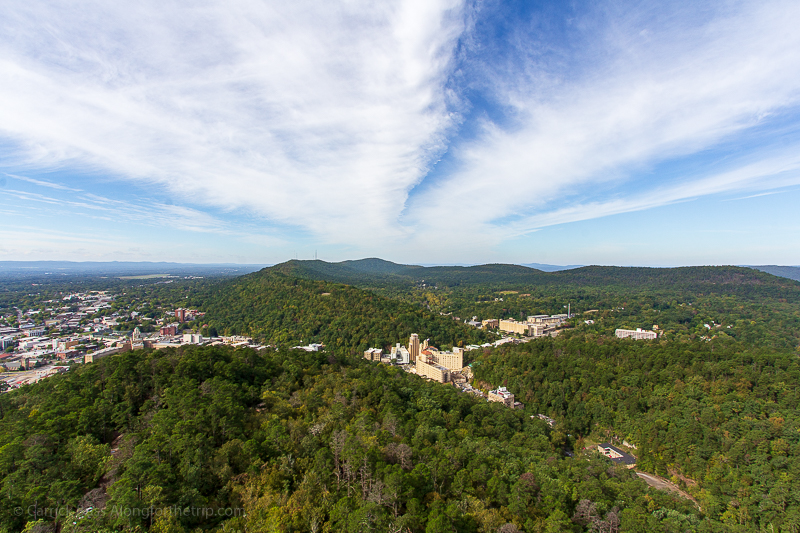 Pictures of Hot Springs Arkansas from the Hot Springs Mountain Tower.