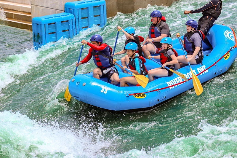 Riding the whitewater at Riversport OKC Adventures