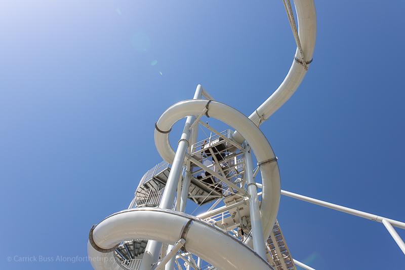 Spiral slides at Riversport OKC