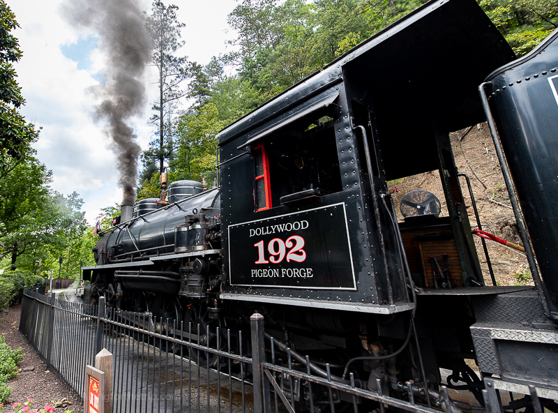 Dollywood steam engine Pigeon Forge TN