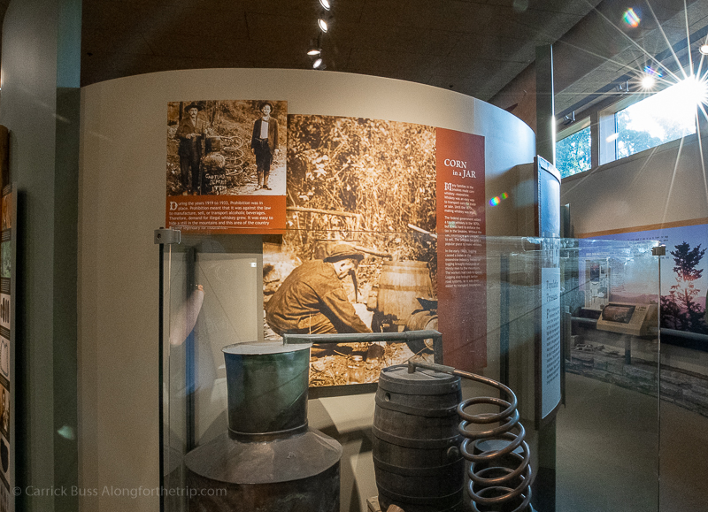 history of Great Smoky Mountains National Park at the Oconaluftee Visitor Center