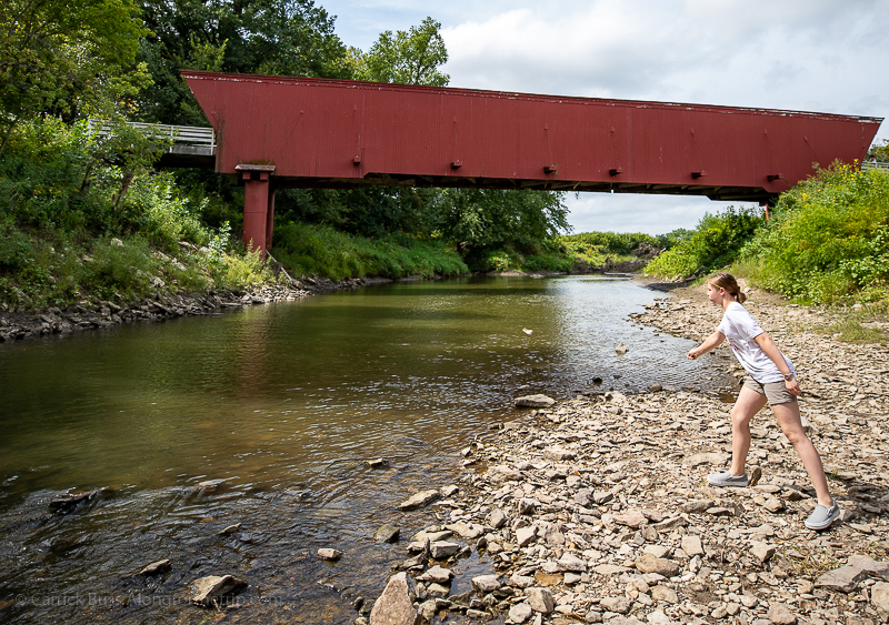 The Bridges of Madison County near Des Moines Iowa