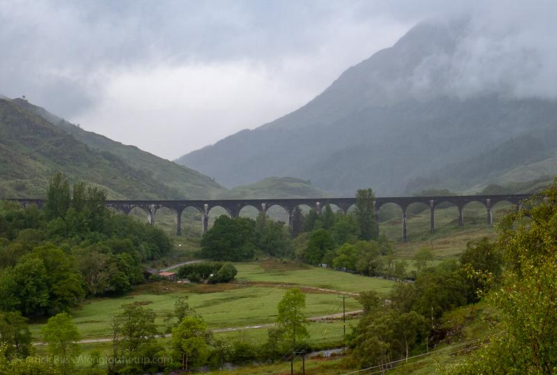 A famous Harry Potter train scene at Glenfinnan