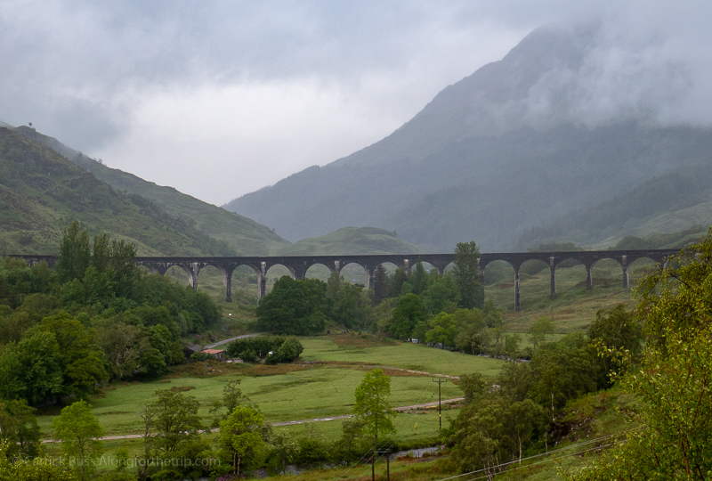 A famous Harry Potter train scene at Glenfinnan
