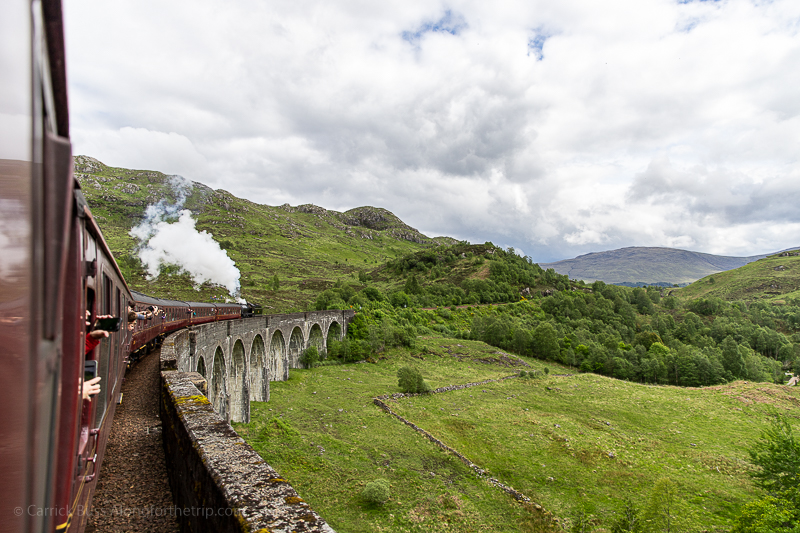 crossing the Harry Potter train bridge - Glenfinnan Viaduct