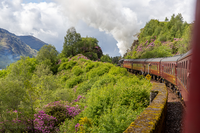 Riding the Harry Potter train through Scotland
