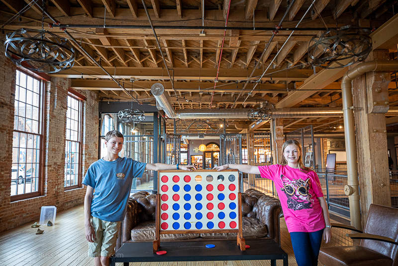 Family-friendly games at Novelty Iron Works