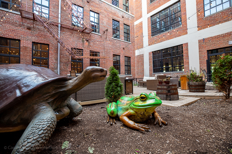 The courtyard at Novelty Iron Works