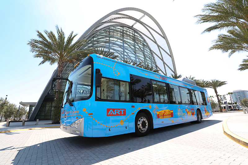 Take the ART bus to get around Anaheim Resort