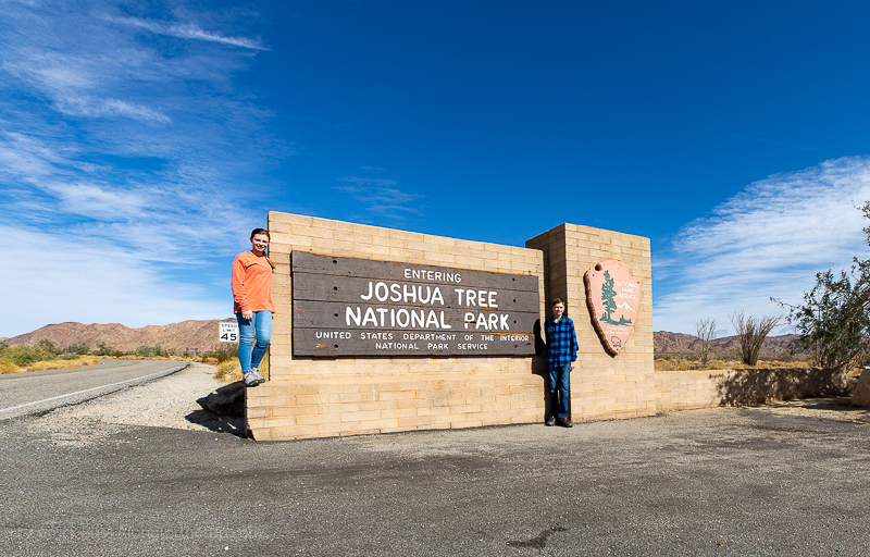 Photo at the Joshua Tree National Park entrance