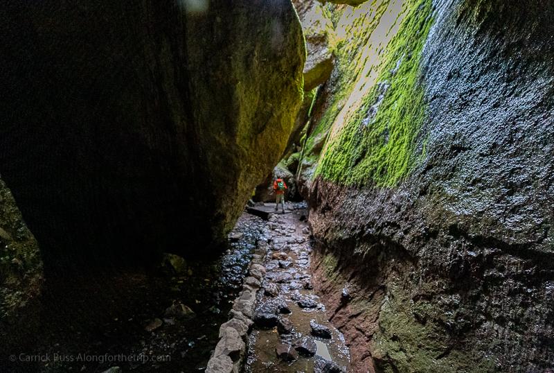 Hiking around Bear Gulch Cave in Pinnacles CA