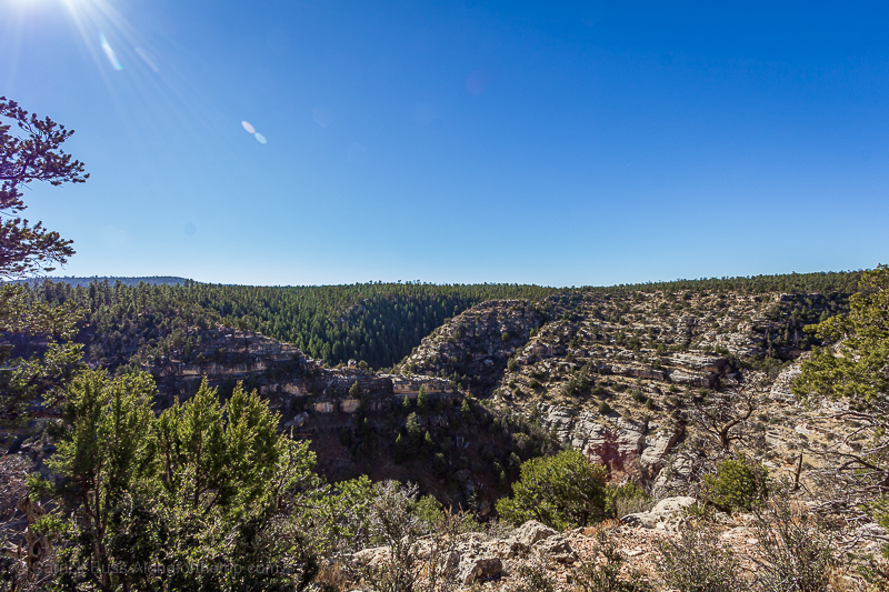 Walnut Canyon National Monument Overlook