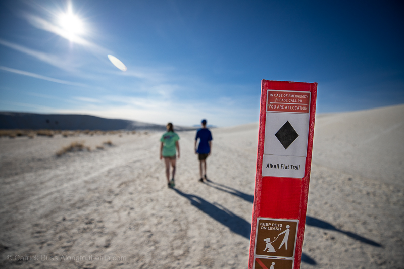 White Sands National Park hiking trails